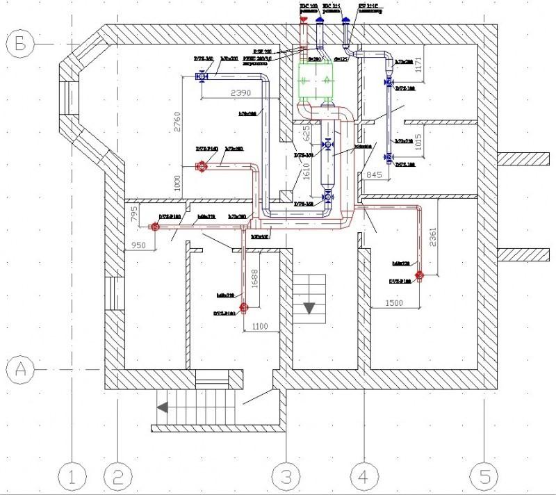 Вентиляция цокольного этажа в частном доме своими руками схема 77