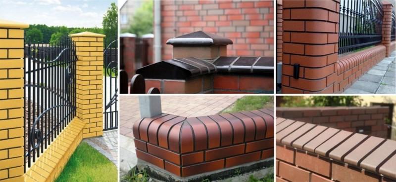 Забор из кирпича 117 фото универсальный кирпичный забор для частного дома красивые варианты декора облицовочным камнем