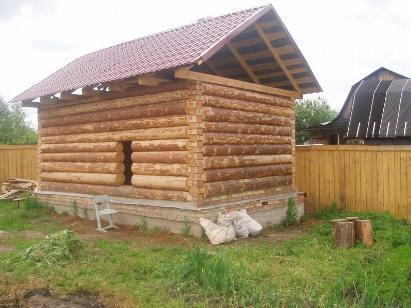 Односкатная крыша для бани из бревна: как построить и сделать самому?