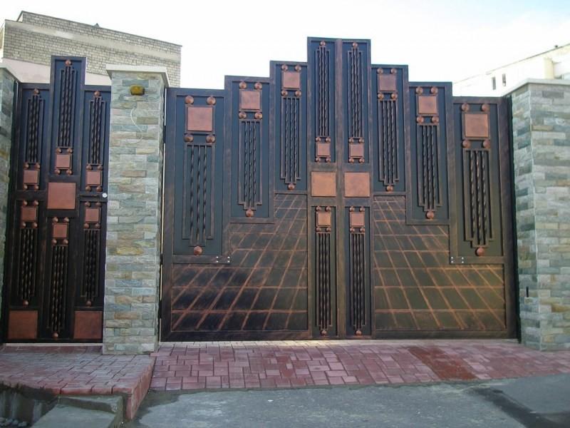 Фото ажурных ворот что