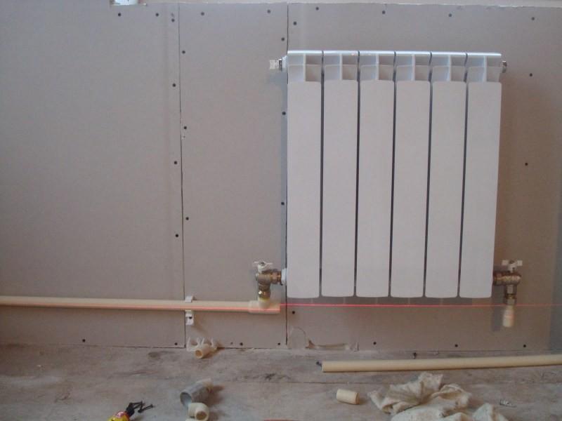 Схема монтажа радиаторов отопления в частном доме