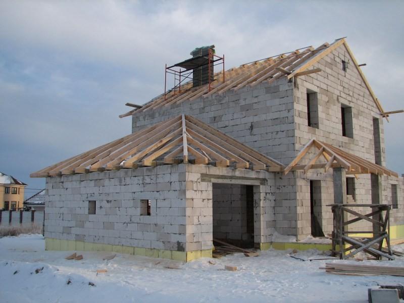дом из шлакоблоков своими руками фото