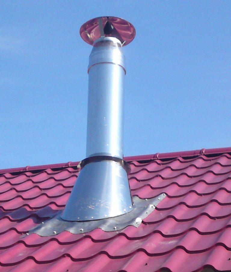 труба через крышу из профнастила
