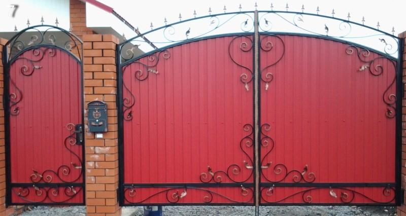 Ворота забора из металлопрофиля